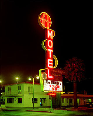 Albert Watson, Miss Beehayving, A Motel, courtesy of Hamiltons Gallery