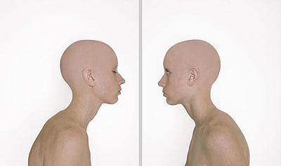 MARGEAUX WALTERSTUDY 4 (ONENESS), 2007lenticular, diptych, ed.524 x 20 in. each p.   61 x 50.8 cm.24 x 40 in. overall   61 x 101.6 cm.Edition of 5