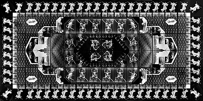 The Human Motif I (photo-carpet), 1989, 240x480 cm, silver gelatine print