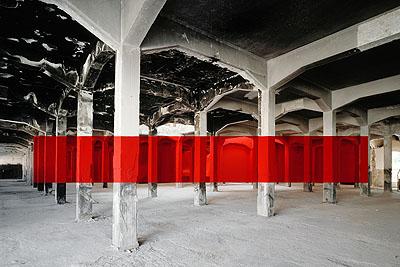 Matadero, 2007Lambda print125 x 160 cm© Georges Rousse. Galerie RX, Paris.
