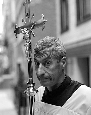 Portrait des Künstlers Maurizio Cattelan aus Sante D'Orazios Serie