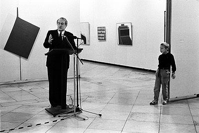 Helfried StraußJohannes Rau eröffnet die Ausstellung