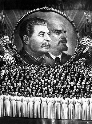 Stalin, Lenin, Chor.Moskau, 1951© Sammlung Ernst Volland / Heinz Krimmer