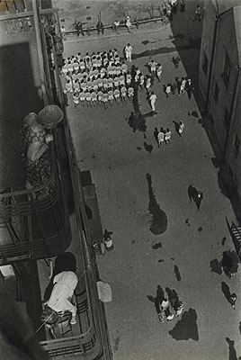 People Gathering to Take Part in a Demonstration. 1928 (1933)Artist print, Museum