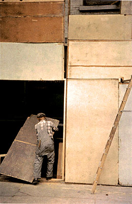 Mondrian Worker, 1954; Chromogenic Print, Printed at a later date. 28 x 35 cm