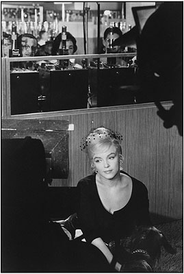 Henri Cartier Bresson, Marilyn Monroe während der Drehabreiten von
