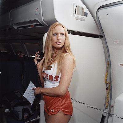 Brian FinkeSarah, Hooters-Air, 2005© Brian Finke Courtesy of the Stephen Cohen Gallery