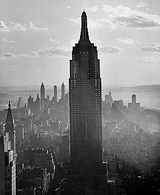 Empire State Building, New York, 1940 Photo by Andreas Feininger © AndreasFeiningerArchive.com