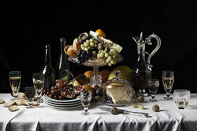 Robyn StaceyThe Duke of Northumberland's Tableclothfrom The Great and the Good, 2008type c prints120 x 159cm, edition of 5 +  2 AP