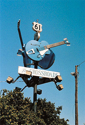 The Crossroads. Highway 61 und Highway 49, Clarksdale, Mississippi, 2003. Aus der Serie
