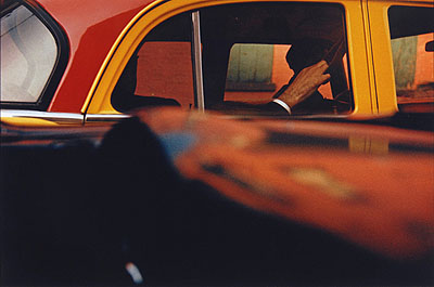 Taxi. New York, 1957. Modern chromogenic print
