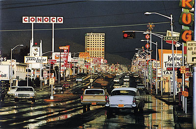 Ernst Haas 'Route 66, Albuquerque, New Mexico' 1969 © Ernst Haas, courtesy Getty Images.