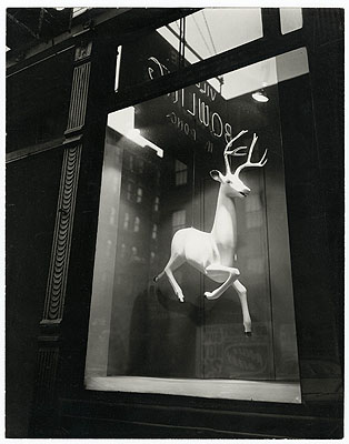 Berenice AbbottDesigner's window, Bleeker Street, New York, 1947