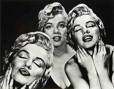 Lot n° 289: Philippe Halsman (1906-1979) Marilyn, triple portrait, 1952