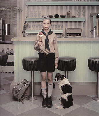 Erwin Olaf, RECENT WORKS, Rain, The Ice Cream Parlor, 2004, courtesy of Hamiltons Gallery