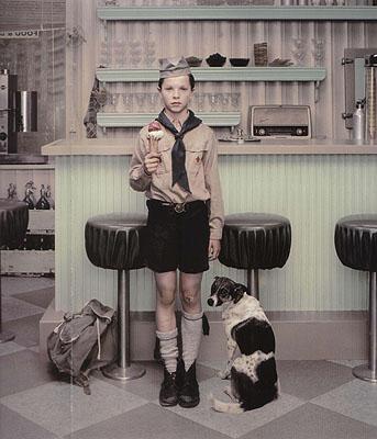 Erwin Olaf, RECENT WORKS, Rain, The Ice Cream Parlor, 2004, courtesy of Hamiltons Gallery