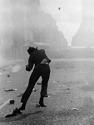 Mai 68, rue Saint Jacques, Paris, 6 mai 1968