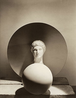 Classical Still Life - circle, disk, bust, 1937Gelatin Silver PrintLater PrintRecto embossed signed. Verso signed, titled, dated, annotated.ca. 51 x 61 cm© Horst P. Horst / Art & Commerce
