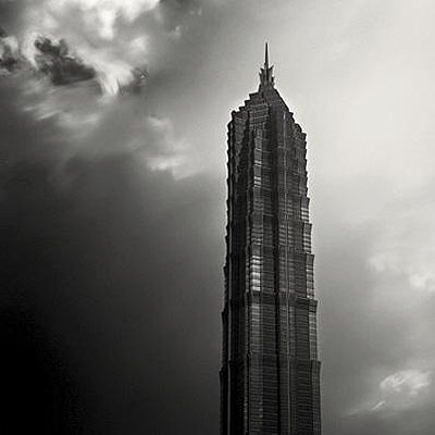 Jin Mao Tower, Study 1, Shanghai, China, 2006Photography - Selenium/Sepia Toned Silver Print Signed, titled, dated and numbered on verso12 x 12