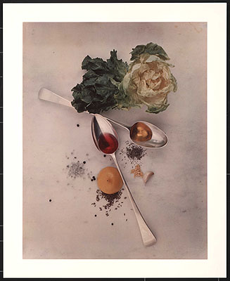 Irving Penn, Salad Ingredients, New York, 1947 © 1947 (renewed 1975) byCondé Nast Publications Inc, courtesy of Hamiltons Gallery