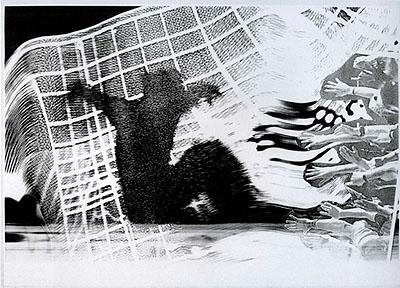 Sigmar Polke, Angst (50-teilige Serie), 1996, s/w-Fotografie, Städtische Galerie Karlsruhe, Sammlung Garnatz, © Sigmar Polke