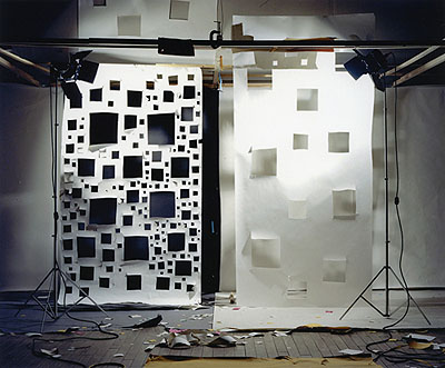 David HaxtonNo. 592, Holes in White to Black and Holes in White to WhiteColoC-print72 x 88 in.182.88 x 223.52 cm.2005Edition of 3