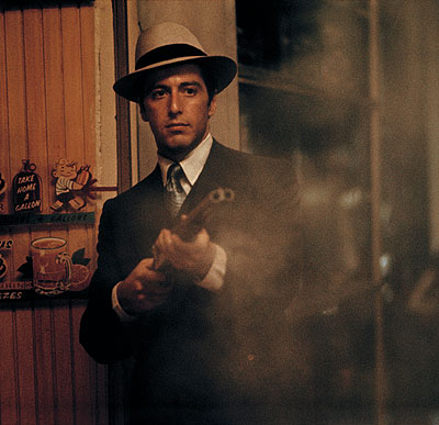 Steve Schapiro, Shooting the Gun, The Godfather, courtesy of HAMILTONS