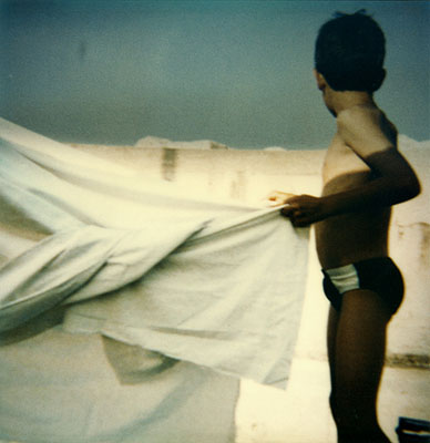 n°5, 1995 from the series Où commence le ciel ?Enlarged Polaroid SX 70s78x76 cmEdition of 5@ Corinne Mercadier