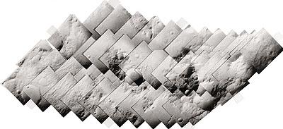 NATIONAL AERONAUTICS AND SPACE ADMINISTRATION (NASA)Viking Orbiter 1 Mars Mosaic 137S 1-24 & 138S 1-24, 1979Approximately 45 individual vintage gelatin silver panels, 197912-1/2 x 29 inches (31.8 x 73.7 cm)