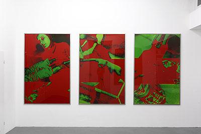 Katharina Sieverding: Ressource Terabyte 2009installation view Galerie Christian Lethert, Cologne© Simon Vogel, Köln
