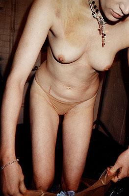 Juergen Teller, Kristen McMenamy, 1996© Juergen Teller and Münchner Stadtmuseum