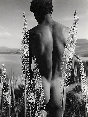 Herbert List, Arab with Flowers, Nude, 1935© Herbert List Bequest, Hamburg and Münchner Stadtmuseum
