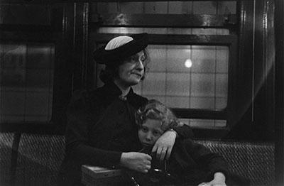 Walker Evans [Subway Passengers, New York], 1938Vintage gelatin silver print 11.8 x 16.6 cmPrivate collection © Walker Evans Archive, The Metropolitan Museum of Art
