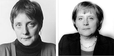 Angela Merkel, Bonn, 1991 und 2006© Herlinde Koelbl