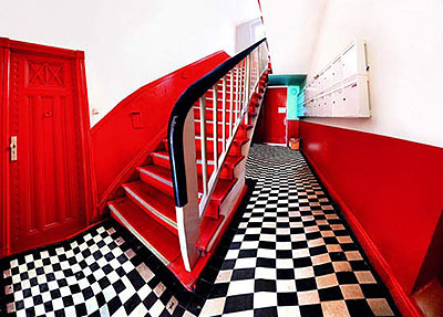 Red Stairs, 2005 c-print 60 by 84 inchesEditon of 5 + 2AP