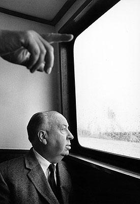 Alfred Hitchcok in Hamburg, 1960