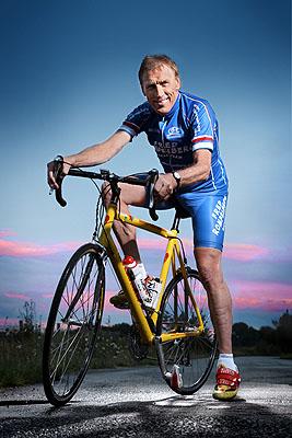 Fred Rompelberg, 64, Radrennfahrer, aus der Serie SILVER HEROES, Maastricht, NL2009 © Karsten Thormaehlen