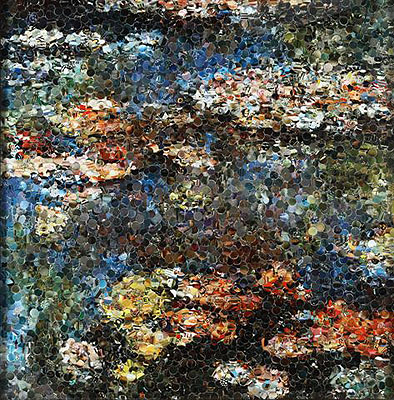 1140VIK MUNIZ (1961)Water lilies after Monet2004Digital print chromogenic printcopy: AP 2/4Cm.101,6x98,5Signed and dated on the back
