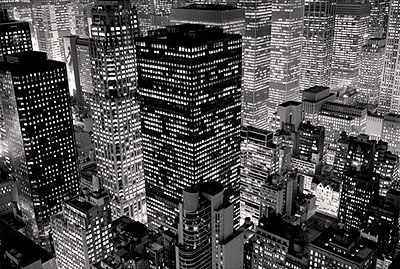 © Michael Kenna. Mary Poppins over Midtown, New York City, USA, 2006.