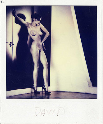 Helmut Newton, Sylvia in my Studio, Paris 1981Unique Polaroid© Estate of Helmut Newton