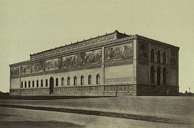 Georg Böttger Die Neue Pinakothek in München, um 1860, Albumin