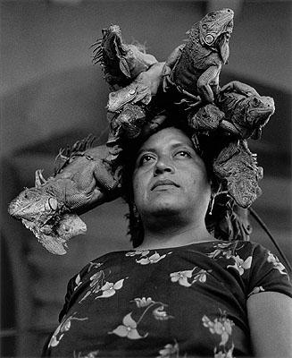 Graciela IturbideNuestra Señora de las iguanas (Our Lady of the Iguanas), Juchitán, México, 1979Gelatin-silver print43 x 35 cmCollection Mapfre Foundation© Graciela Iturbide