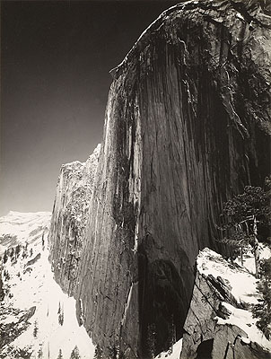 Ansel AdamsMonolith. The Face of Half Dome, Yosemite National Park, California. 1927 Vintage gelatin silver print. 20,1 x 15,1 cm. Lot 150 / € 10 - 15 000Auction 949 Photography
