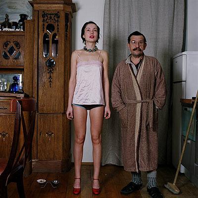 © Alla Esipovich 'Anatolij Belkin and girl-friend', colour photograph