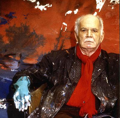 Manfred Hamm, Porträt des Künstlers Fred Thieler, Fotografie, 100x100cm