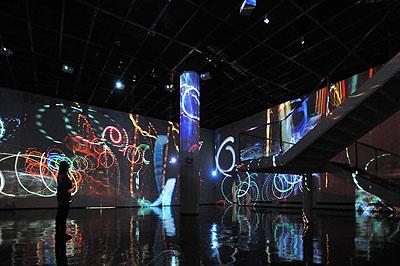 Koganezawa TakehitoGraffiti of Velocity2008Video InstallationInstallation view: