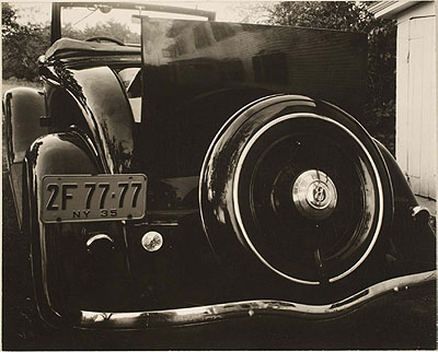 Alfred StieglitzFord V-8 1935 gelatin silver photograph, 19.5 x 24.3 cm George Eastman House,part purchase and part gift from Georgia O'Keeffe© Alfred Stieglitz Estate