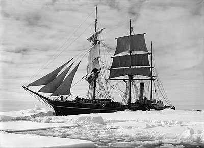 The Terra Nova held up in the pack, December 1910©2009 Scott Polar Research Institute, University of Cambridge.