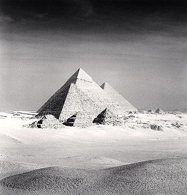 Giza Pyramids, Study 6, Cairo, Egypt, 2009  © Michael Kenna