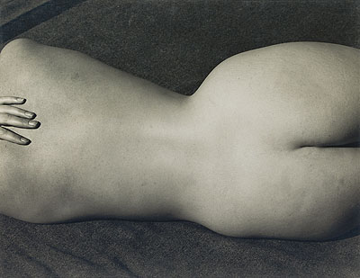 Edward Weston, Nude (Charis), silver print, 1935. Estimate: $35,000 to $45,000.